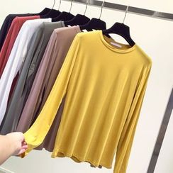 Honey House - Long-Sleeve Plain T-Shirt