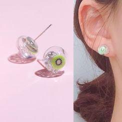 Twinstyle - 玻璃圓球耳釘