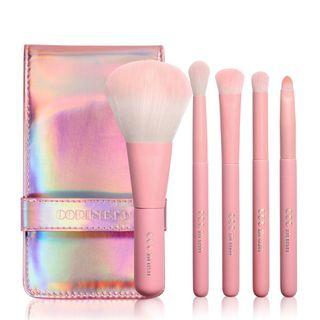 CORINGCO(コリンコ) - Pink Hologram Mini Make Up Brush Set