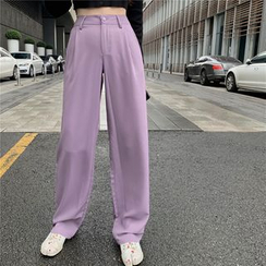 Allizzwell - Long-Sleeved Cropped Cardi /Wide-Leg Dress Pants