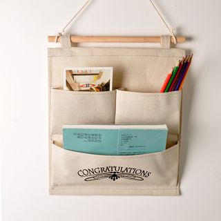 Hyole - Cotton and linen hanging storage bag