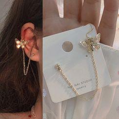 Studio Nana - Alloy Butterfly Cuff Earring