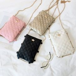 Polnocna - Quilted Crossbody Mobile Pouch