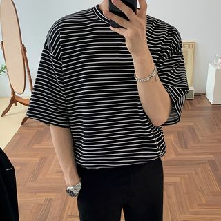 MRCYC - Striped Elbow-Sleeve T-Shirt