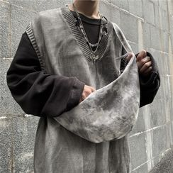 Banash - Tie-Dyed Canvas Sling Bag