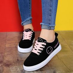 Raylove - Faux-Leather Lace-Up Sneakers
