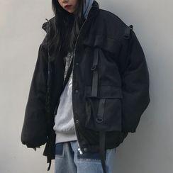 Giuliana - Hooded Zip Cargo Jacket