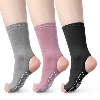Huasha - 半趾瑜伽防滑袜子
