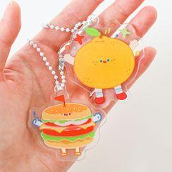 雲木良品 - 食物卡通鑰匙扣
