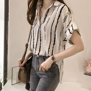 Arroba - Short-Sleeve Striped Shirt