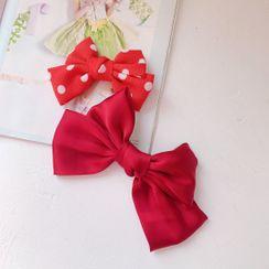 Hello minto - Polka Dot Bow Hair Tie