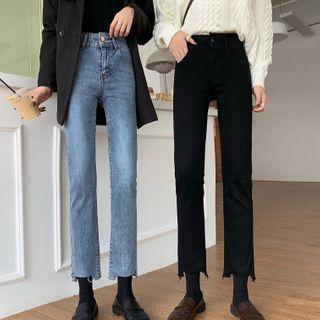 Rorah - 高腰九分直筒牛仔裤