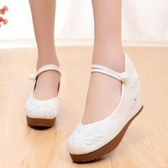 Kyotopia - Chinese Traditional Hidden Wedge Shoes