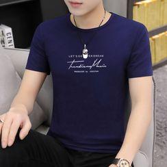 COOLIN - Lettering Short-Sleeve T-Shirt
