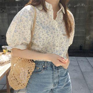 Donnae - Floral Short-Sleeve Blouse