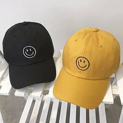 FROME - Smiley Face Embroidered Baseball Cap