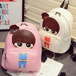 Merlain - Cartoon Faux-Leather Mini Backpack