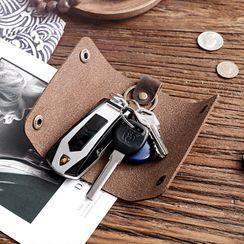 Wavecho(ウェーブチョ) - Genuine Leather Key Pouch