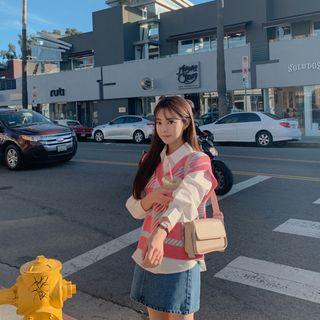 CHERRYKOKO - Flap Pleather Shoulder Bag