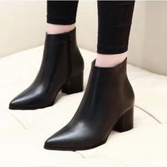 安若 - 粗跟及踝靴
