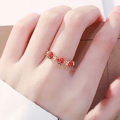 Mulyork - Rhinestone Strawberry Ring