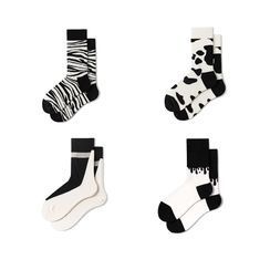 Guliga - 情侣装拼色袜子