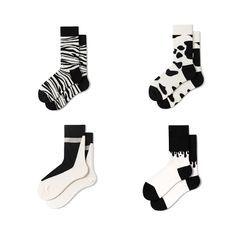 Guliga - 情侶裝拼色襪子