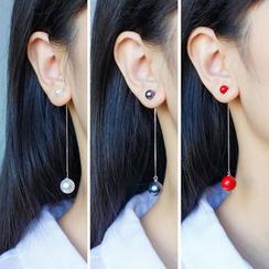 A'ROCH - 925 Sterling Silver Faux Pearl Drop Earring