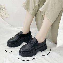 Vindler - 仿皮厚底樂福鞋