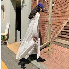 FROMBEGINNING(フロムビギニング) - Tiered Cotton Long Shirtdress
