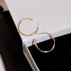 Jasminte - Irregular Open Hoop Earring