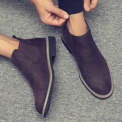 Chaoqi - 丝绒厚底踝靴