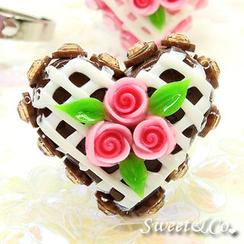 Sweet & Co. - Mini Chocolate Cake Swarovski Crystal Cake Ring
