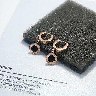Utsukushi - 罗马数字碟状耳环