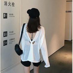 IKIO - Long-Sleeve Open Back T-Shirt