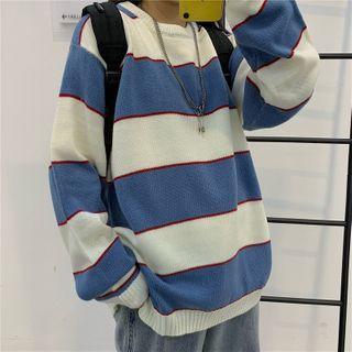 Giuliana - 宽条纹圆领毛衣