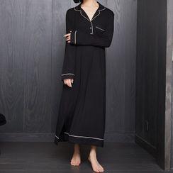 Cinni - Long-Sleeve Maxi Pajama Dress