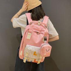 Gokk - Plaid Panel Nylon Backpack