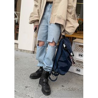 chuu - Cutaway Loose-Fit Jeans