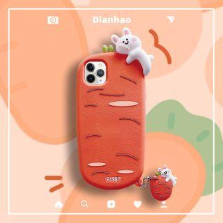 DipCool - Rabbit & Carrot Phone Case - iPhone 12 / iPhone 12 Pro / iPhone 12 Pro Max / iPhone 12 Mini / iPhone 11 /  iPhone 11 Pro /  iPhone 11 Pro Max /  iPhone X / Xs /  iPhone Xs MAX /  iPhone XR /  iPhone 7 / 8 / iPhone SE 2 /  iPhone 7 Plus / 8 Plus