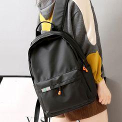 Bianka - 纯色拉链背包