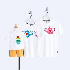 D-SEVEN - Family Matching Short-Sleeve Flower Print T-Shirt