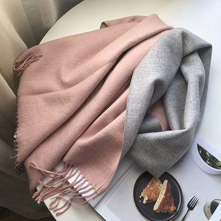 CIMAO - 兩面用流蘇圍巾