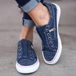 Yoflap - Denim Frayed Sneakers