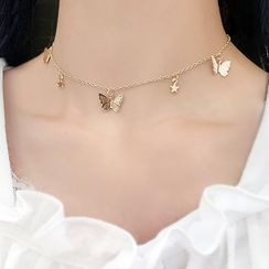 HEDGY - Butterfly Choker Necklace