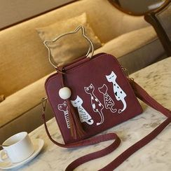 Shimme - 猫印花手提包