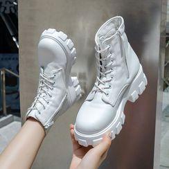 Vindler - 系带厚底短靴