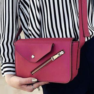 Clair Fashion - Faux Leather Crossbody Bag
