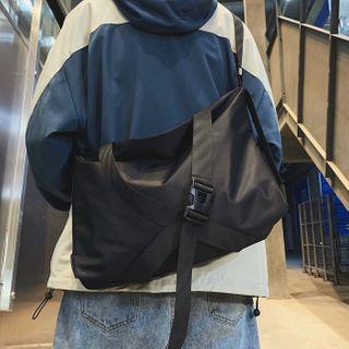 SUNMAN - Buckled Nylon Crossbody Bag
