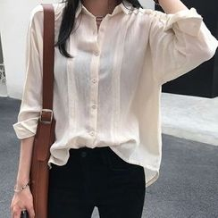 Einshine - 长袖宽松衬衫